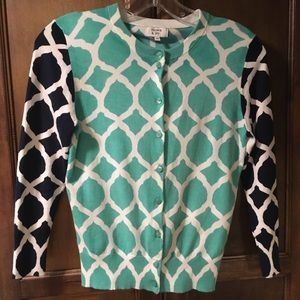 Crown and ivy Cardigan Navy Blue Teal Green XS